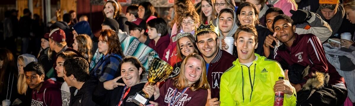 Američtí fotbaloví studenti. Washington Academy. MSM Academy