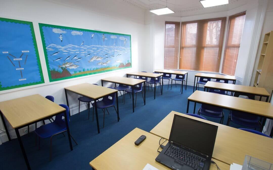Třida. Westbourne School ve Velké Británii. MSM Academy