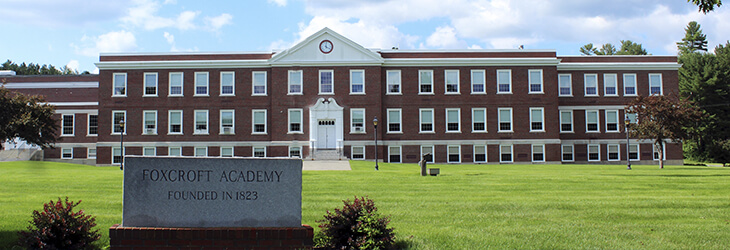 Fasáda2. Foxcroft Academy. MSM Academy