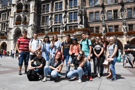 Děti na procházce. Jazykový kurz němčiny. MSM Academy