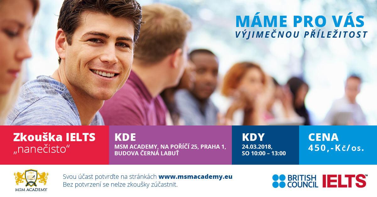IELTS. MSM Academy Praha